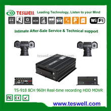 Mobile DVR with 8-channel 2D1 and 6 CIF, Ideal for Bus/Trucks/Trailers/Vans/Boats