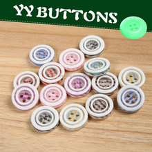 best selling on alibaba 4 hole resin material round shape various lace fabric covered buttons for baby clothing