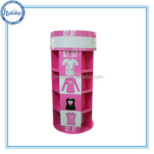 Corrugated cardboard retail store cloth display stand for cloth shop , display for clothes