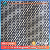 blue and white interweave rhombus printed nylon spandex swimwear fabric