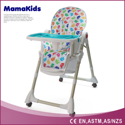 High quality and safety portable folding baby high chair with en14988 certification