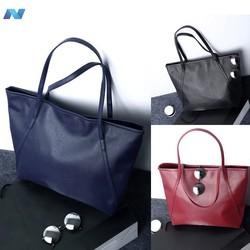 Vintage Style Women Synthetic Leather Big One Shoulder Bag Tote Bag Satchel Bag Handbag