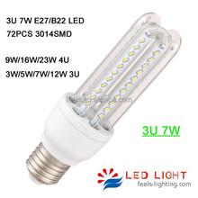 smd 2835 3014 3U 4U 360 degree corn e27 12v led edison bulb
