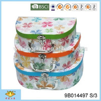 Clover Decorative Cardboard Suitcase Paper Box With Handle