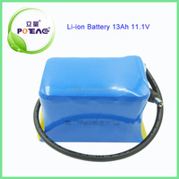 Hot 12v li-ion battery 13ah / 13ah lithium ion battery 12v 18650