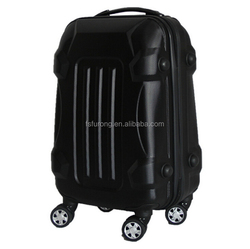 Large capacity wheels travel abs hard case luggage with zipper