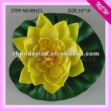 Imitation plastic floating lotus plants decoratived aquarium fish tank wholesale
