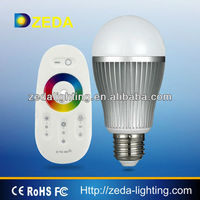 2015 most Creative product 10w RGB wifi function led bulb with rechargeable long distance torch led bulb lighting