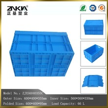 YES foldable 66L heavy duty packaging item Plastic moving boxes for packaging usage