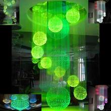 large modern crystal chandelier in China, 0.75mm fiber optic chandelier