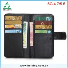 High quality Classic leather case For iPhone 6 functional wallet purse