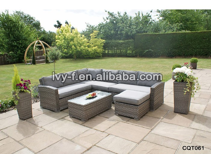 resort patio rattan modern l shape sofa terrace sofa set outdoor synthetic wicker garden. Black Bedroom Furniture Sets. Home Design Ideas