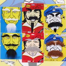 YIWU Caddy HP-005 Wholesale price Halloween Props party dress black Fake beard Mustache Self-Adhesive beards