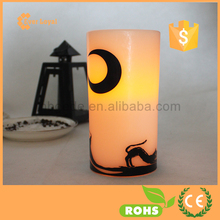 LED Luminara Candle Flat Top Pillar Printed Candle