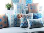 2015 de linho barato decoração para de poliéster índia personalizado impressão digital sofá decorativa capa de almofada.
