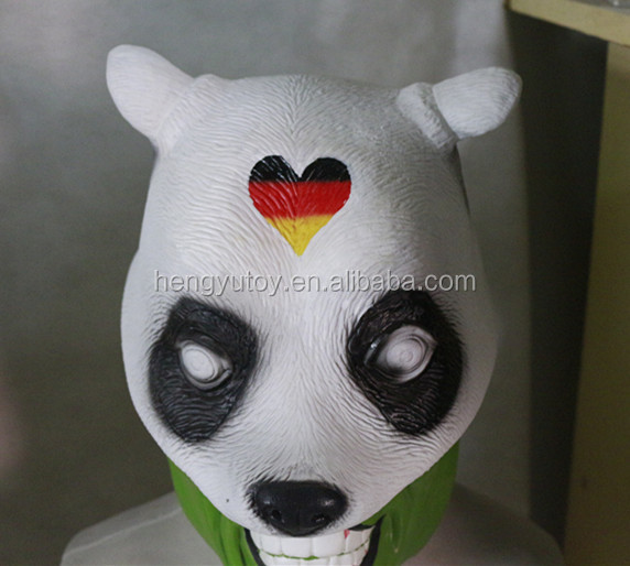 Panda Costume Head Full Head Latex Panda Mask