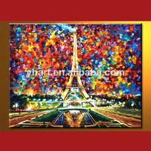 venta al por mayor hecho a mano de la torre eiffel paisaje decoración de moda foto de arte