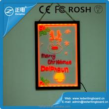 Hot adveritising electronics shops showcase use transparent double sided led writing board