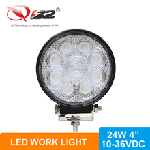 24w led work lights for tractors and vehicles waterproof led ring light