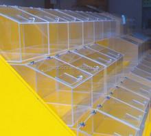 design personalizado acrílico distribuidor de doces caixa