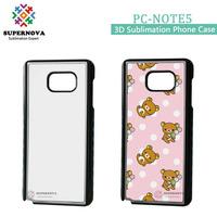 Hard Plastice Blank Custom Printing Smart Phone Case for Samsung Note 5/N9200