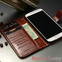 Made in China Unique Desing Engraving Quality Mobile Phone Cover Case with Stand Function and Card Slots for Samsung Galaxy S4