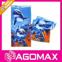 Wholesale colorful premium double sided beach towel