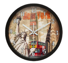 2015 most popular products 12 inch metal wall clock