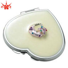 Pearl Heart Compact Mirror Cheap Mirrors with Purse Ornaments