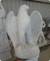 American style marble bald eagle statue