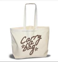 China production Pomotion Reusable Canvas Folding Carry Bag