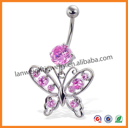 The Most Popular Fashion Fancy Butterfly Navel Rings