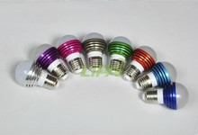 good quality attractive design lower price E27 Remote control RGB led bulbs 3W