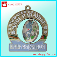 Low price custom rotatable medal