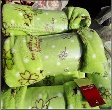 Free sample Soft touch made in china fleece blanket compressed packing