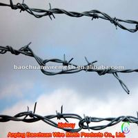 pvc coated Galvanized silver barbed wire with high quality and reasonable price in store