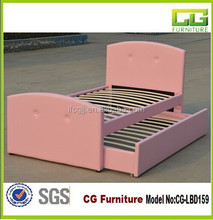 Lovely Pink Princess Faux Leather Bed For Bed Frame with Signal/Double/Queen Size