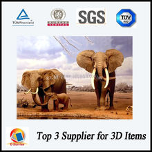 desert elephant 3d picture/3d lenticular photos for gifts