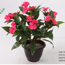 14inch Indoor cheap decorative artificial flower bush factory wholesale Impatiens flower for sale