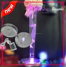 Gift wholesales IR wireless remote controlled led vase base light 6 inch led light for martini glass vase