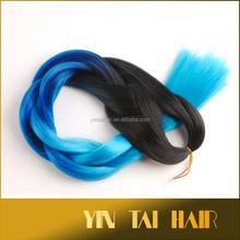 Alibaba hot selling 100% kanekalon synthetic hair extension super jumbo braiding 3 tone olors