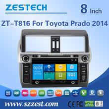 ZESTECH high -tech and screen touch Car radio player for toyota prado car radio player with GPS BT 3G DVD STEERING WHEEL CONTROL