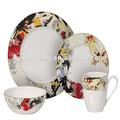 Ly-ds01 16 lujo pcs vajilla de porcelana de color blanco, vajilla de lujo 16 pcs
