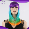 2015 new arrival wholesale cheap synthetic colorful halloween wigs