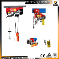 PA series mini electric wire rope hoist, elevator motor