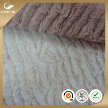 China supplier High Performance Material Soft Embossed PV Plush Fabric