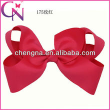 Wholesale 6 inch Grosgrain Ribbon Bow, Alligator Clip Wrapped Solid Color Large Grosgrain Hair Bow Hair Clip