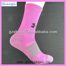 Hot designs basketball knitted sublimated sport sock low price