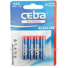 Alkaline 1.5V AA LR6 AM3 Dry battery with shrink/blister packaging