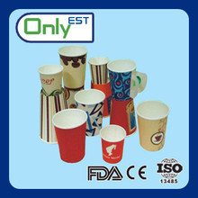Wholesale single wall logo print disposable paper cup for coffee/milk